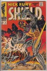 Nick Fury Agent of S.H.I.E.L.D. #2 (Jul-68) VF+ High-Grade Nick Fury, S.H.I.E...