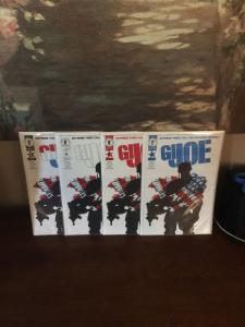 G.I. Joe 1 All 4 Covers Set Red White Blue And All Three All Nm/m Near Mint