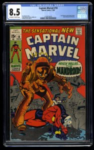 Captain Marvel #18 CGC VF+ 8.5 Off White to White Carol Danvers gets her Powers!