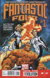 Fantastic Four (2013 series) #1, NM + (Stock photo)