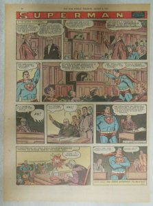 Superman Sunday Page #927 by Wayne Boring from 8/4/1957 Size ~11 x 15 inches