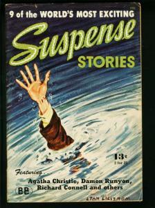 SUSPENSE STORIES 1945-PULP-AGATHA CHRISTIE FN