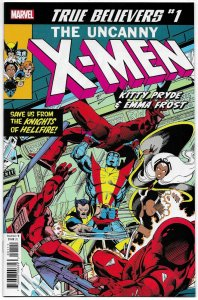True Believers X-Men Kitty Pryde & Emma Frost #1 Rep Uncanny X-Men #129 (NM)