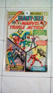 Giant Size Marvel Triple Action #1 (Published on May of Year 1965) MARVEL COMICS