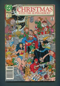 Christmas with the Super Heroes #2  /  9.0 VFN/NM - 9.2 NM-  /  DC Comics 1989
