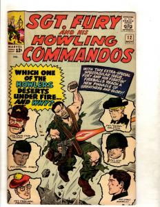 Sgt. Fury & His Howling Commandos # 12 VF Marvel Silver Age Comic Book JF11