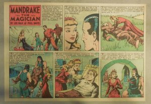 Mandrake The Magician by Lee Falk and Phil Davis 10/24/1948 Half Size Page !