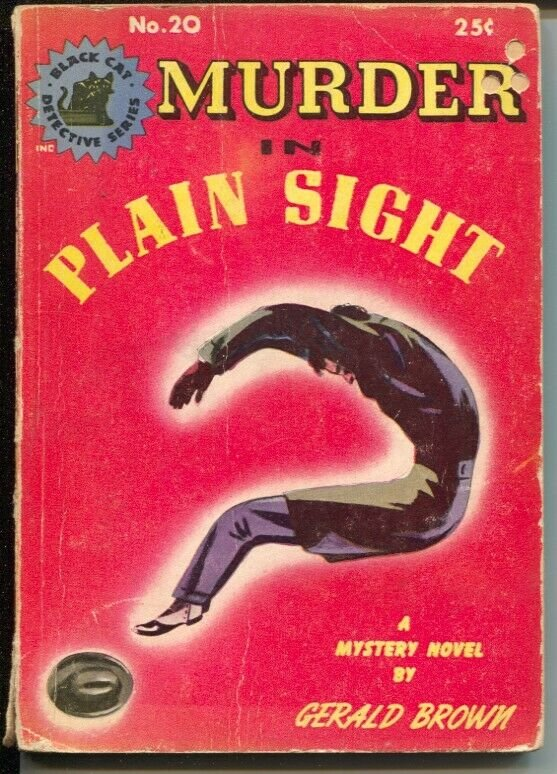 -Black Cat Mystery Series #20 1945-Murder in Plain Sight-Gerald Brown-G/VG