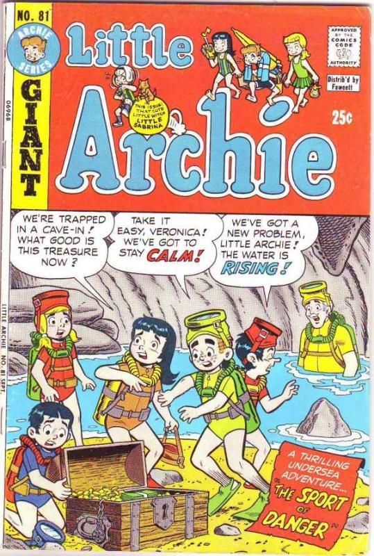 Little Archie #81 (Aug-73) FN Mid-Grade Little Archie, Little Veronica, Littl...