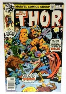 Thor  #277 Marvel 1978 VF Bronze Age Comic Book 1st Print