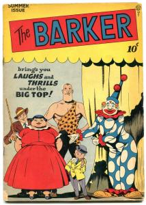 The Barker #4 1947- Circus Freak show cover- missing back cover