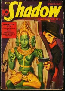 SHADOW 1938 APR 15-STREET AND SMITH PULP-RARE VG