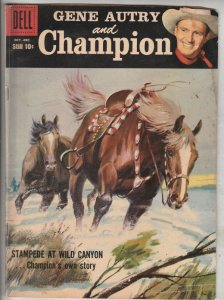 Gene Autry and Champion #120 (Oct-58) VG/FN Mid-Grade Gene Autry, Champion