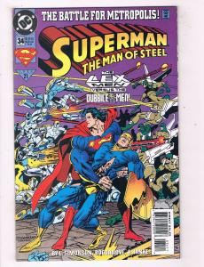 Superman The Man Of Steel #34 VF DC Comics Comic Book JLA Jun 1994 DE45