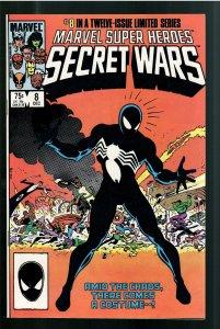 MARVEL SUPERHEROES SECRET WARS 8 NM 9.6 ORIGIN BLACK SYMBIOTE