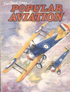 Popular Aviation Aug/1935--SOPWITH CAMEL-attack-aviation-models-WW1-pulp thrills