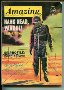 AMAZING STORIES 4/1962-PULP SCI-FI-ISAAC ASIMOV-SAM MOSKOWITZ-vg+