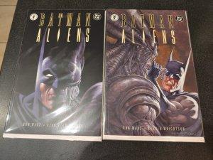 Batman/Aliens (1997) #1 and #2 | NM | Bernie Wrightson HARD TO FIND