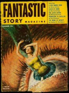 Fantastic Story Pulp Summer 1954- Bradbury- Kuttner- Walter Popp VG/F