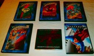 Superman I II III IV Returns Soundtrack (set of 5 DVDs, 1 CD)
