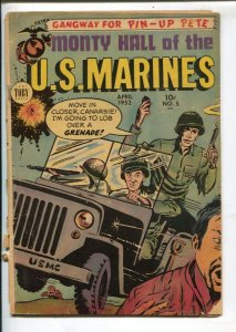 Monty Hall Of The US Marines #5 1952-Toby-Pin-up Section-Korean War stories-G+