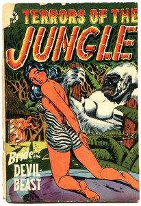 TERRORS OF THE JUNGLE #7-1953-LB COLE-JAY DISBROW-JACK KAMEN-BONDAGE-HORROR