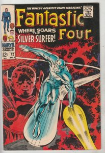 Fantastic Four #72 (Mar-68) VF+ High-Grade Fantastic Four, Mr. Fantastic (Ree...