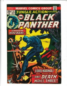 JUNGLE ACTION FEATURING THE BLACK PANTHER#11  FN/VG  MARVEL COMICS