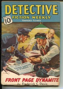 Detective Fiction Weekly 7/10/1937-Frredom of Speech cover-crime-mystery-VG+