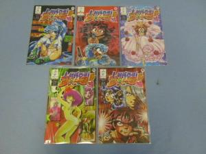 Virtual Bang Ironcat LLC Sexy Action Adventure Manga Comic Books Parts 1-5 MINT