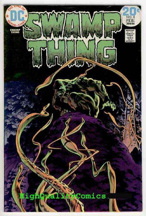 SWAMP THING #8, Bernie Wrightson, 1974, Lurker in Tunnel 13, VF/NM (b)