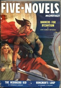 FIVE NOVELS MONTHLY---MAY 1942---ADVENTURE-PULP-VIKING COVER-DELL