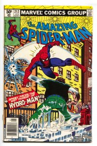 AMAZING SPIDER-MAN #212 First HYDRO MAN 1981 MARVEL - fn+