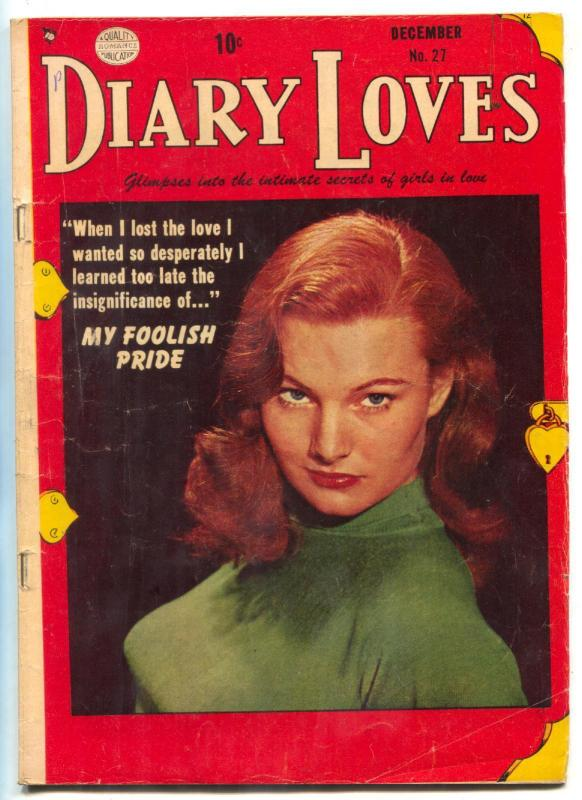 Diary Loves #27 1952- My Foolish Pride- Redhead cover VG