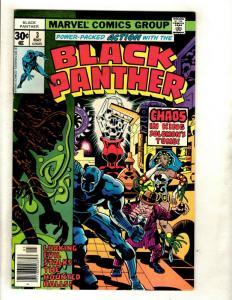 Black Panther # 3 VF/NM Marvel Comic Book Jack Kirby Wakanda Avengers Hulk GK1