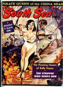 South Sea Stories May 1963 Wild slave girl tied up on cover! Bad Mags!