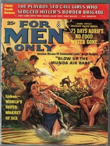 For Men Only 1/1963-Atlas-Mort Kunstler Jungle Girls-Hitler-Walter Popp-FN-