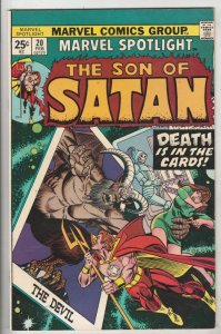 Marvel Spotlight on Son of Satan #20 (Feb-74) NM- High-Grade Son of Satan (Da...