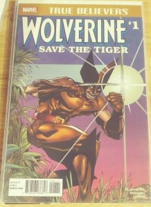 TRUE BELIEVERS WOLVERINE # 1  2019  marvel   SAVE THE TIGER