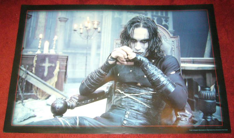 the Crow Movie poster - 24 x 36 - brandon lee sitting photo 1994 crowvision