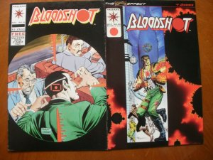 2 Near-Mint Valiant BLOODSHOT #16 Divided We Fall & #20 Lights Out (1994)