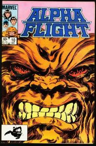 ALPHA FLIGHT #10-MARVEL COMICS-SASQUATCH-JOHN BYRNE NM