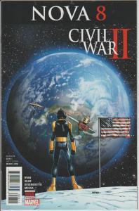 NOVA #8 - CIVIL WAR 2 - MARVEL - BAGGED & BOARDED
