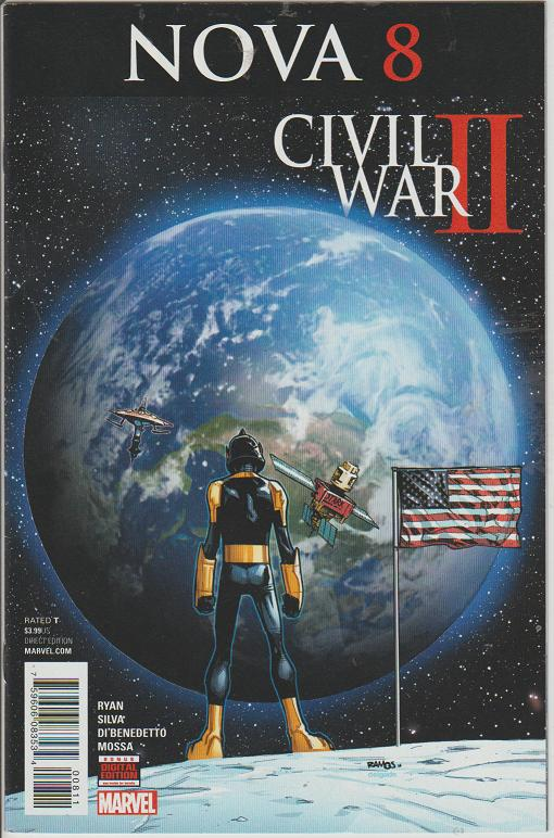 NOVA #8 - CIVIL WAR 2 - MARVEL - BAGGED & BOARDED