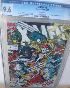 X-MEN #5, CGC = 9.6, NM+, Jim Lee, Gambit, Wolverine, Omega Red, 1991, Byrne