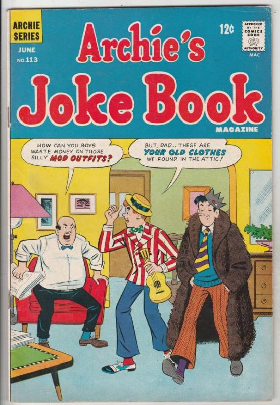 Archie's Joke Book #113 (Jun-67) VF- High-Grade Archie, Betty, Veronica, Regg...