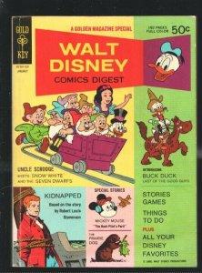 Walt Disney Comics Digest #7 1969-Carl Barks art-Uncle Scrooge-Snow White-Pin...
