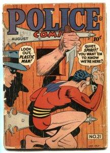 Police Comics #21 1943- WILL EISNER AUTOGRAPH- Spirit G-