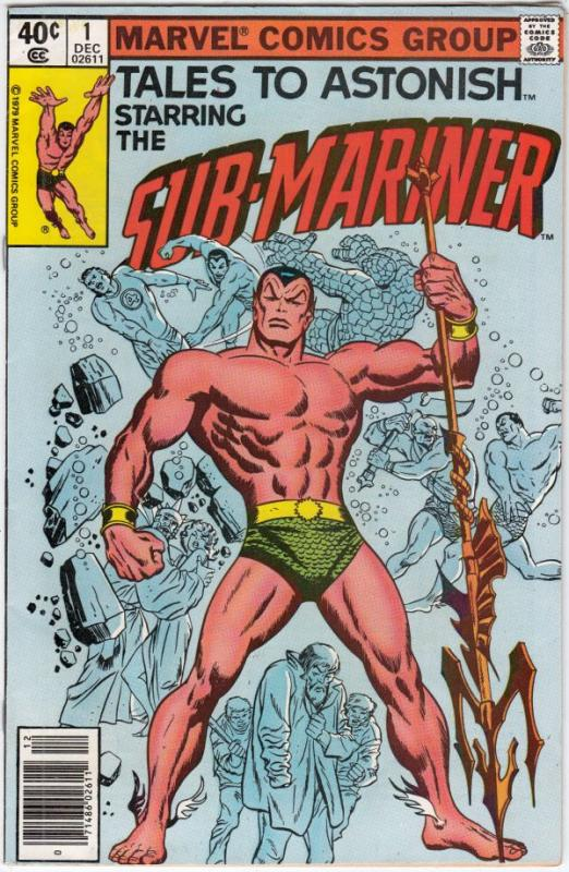 Tales to Astonish #1 (Dec-79) NM- High-Grade Prince Namor the Sub-Mariner