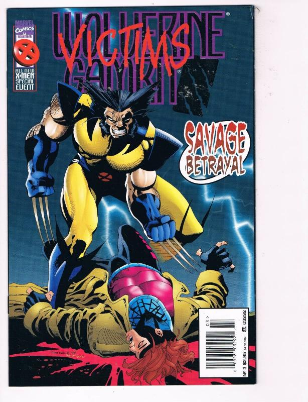 f2c1c2b6ba5 Wolverine Gambit Victims # 3 NM Marvel Comic Book X-Men Cyclops ...